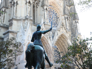 Reims::Filming of the cathedral and the Basilica of Saint-Remi, which conserves the relics of Saint Remi.