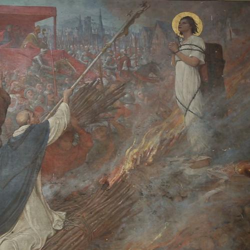 La Pasión de Santa Juana de Arco - Muerte